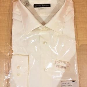 Hickey Freeman - COTTON CLASSIC FIT ECRU DRESS